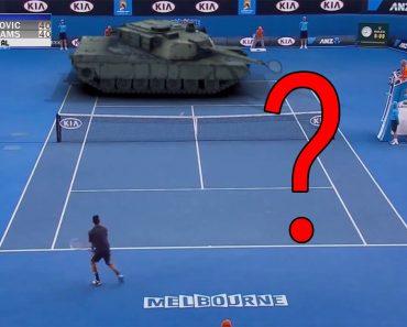 El Vídeo Del Partido De Tenis Entre Djokovic Y Un Tanque Abrams Qué Está Revolucionando Internet