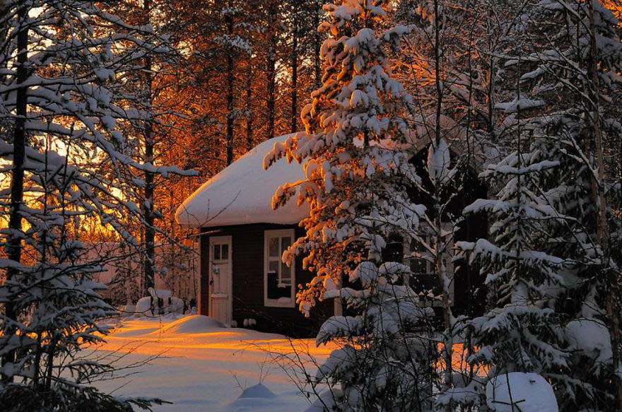 25 Casas Solitarias Perdidas En Majestuosos Paisajes Invernales. La #5 Es Maravillosa