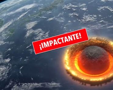 Esto Es Lo Que Pasaría Si Un Asteroide Enorme Chocara Contra La Tierra, Es Aterrador
