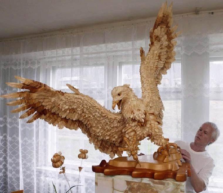 Estas Impresionantes Esculturas Hechas Con Trozos De Madera Te Dejarán Sin Palabras