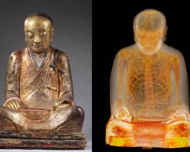 Un Escáner A Esta Estatua De Buda De 1.000 Años Revela Que Tiene Dentro Un Monje Momificado 1