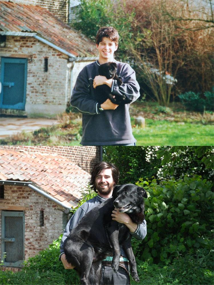 Lo Más Tierno Y Adorable Del Día: 30 Perros Recreando Fotos De Cuando Eran Cachorros