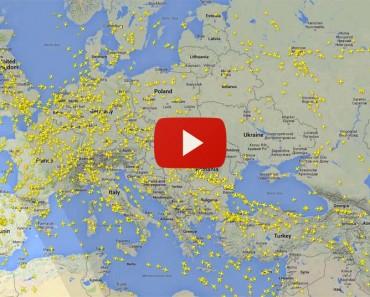 Este Alucinante Vídeo Muestra La Cantidad De Aviones Que Sobrevuelan Europa. Ver Para Creer