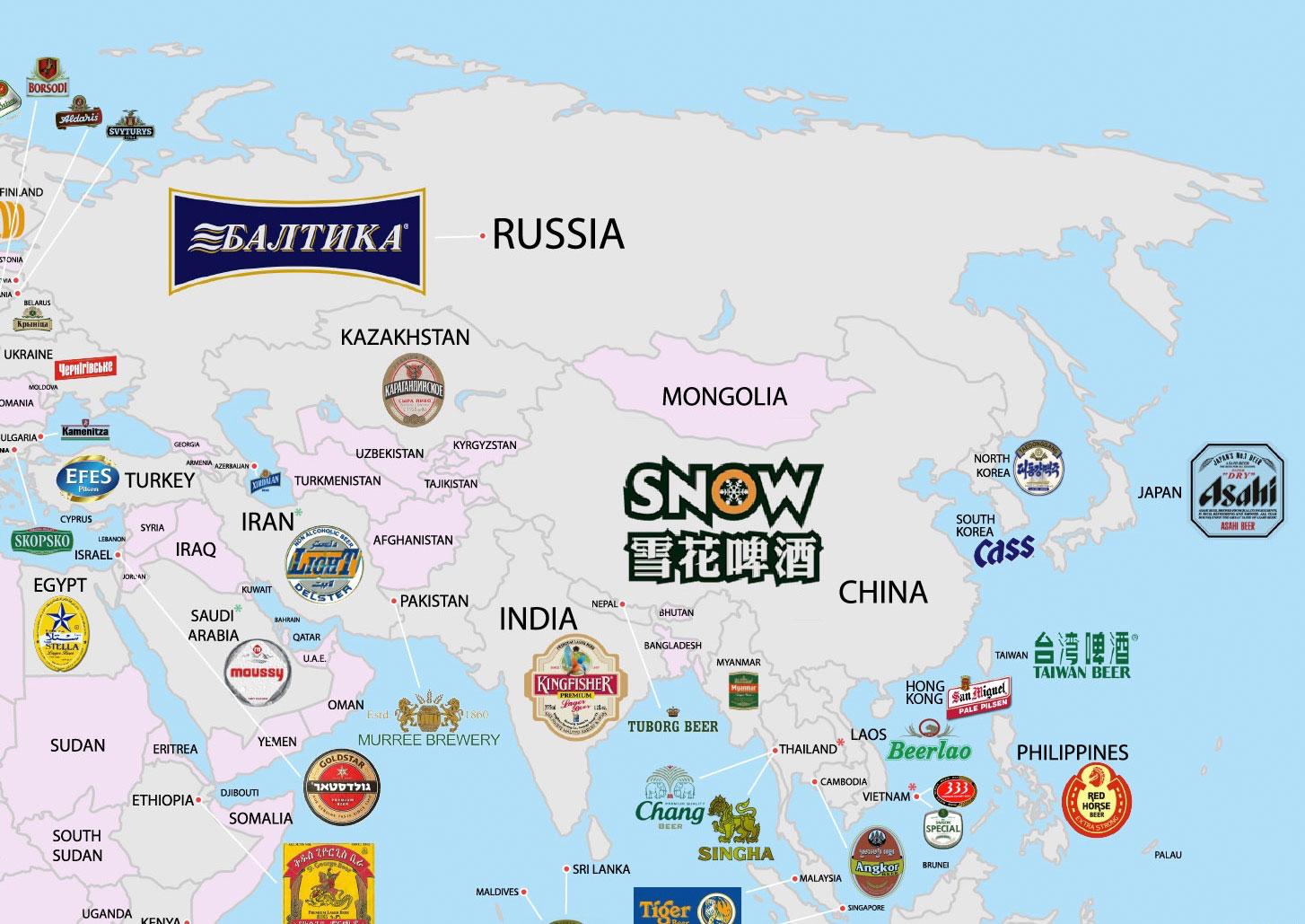 ¿Cuál es la cerveza más popular en tu país (y en todos los países del mundo)?