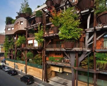 """Esta es la increíble """"casa del árbol"""" urbana que protege a los residentes de la contaminación atmosférica y acústica 1"""