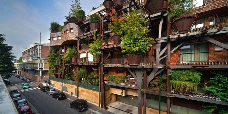 """Esta es la increíble """"casa del árbol"""" urbana que protege a los residentes de la contaminación atmosférica y acústica"""