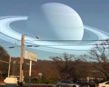 Así sería nuestro cielo si nuestra Luna fuera sustituida por el resto de planetas del Sistema Solar