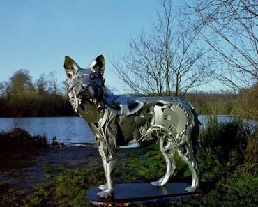 Este Artista Transforma Tapacubos Abandonados En Increíbles Esculturas De Animales 1