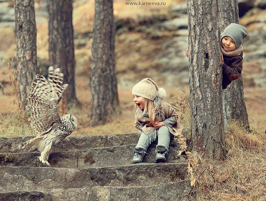 Fotógrafa Rusa Captura Las Fotografías De Niños Con Animales Más Adorables. Absolutamente Enternecedor