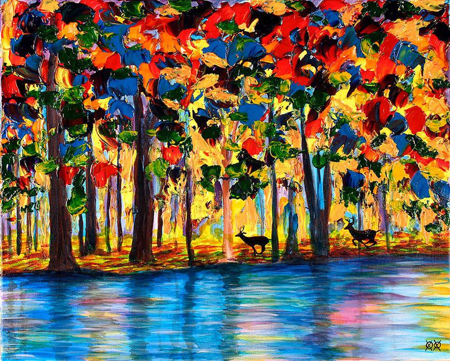 Este pintor ciego usa su tacto para crear este bonito e inspirador trabajo