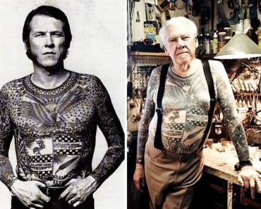 ¿Te has preguntado cómo quedarían los tatuajes al ser anciano? Aquí puedes ver 18 ejemplos 4