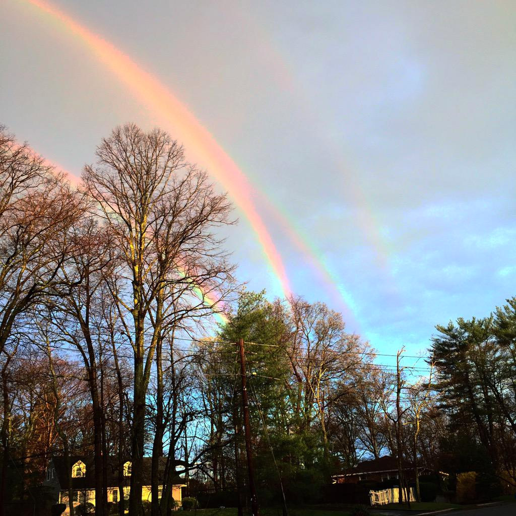 Mítico 'arcoíris cuádruple' fotografiado en Nueva York
