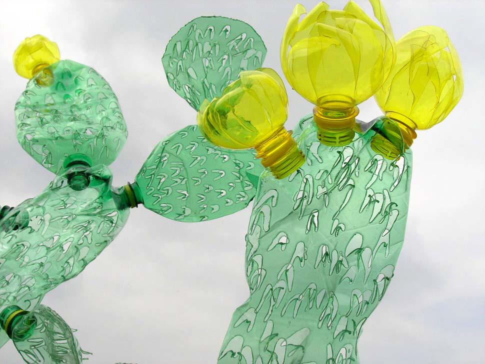 Cómo hacer ARTE a partir de botellas de plástico que serían basura. ¡ASOMBROSO!