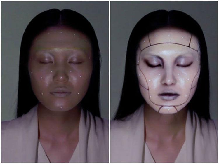 Mira cómo el maquillaje electrónico CAMBIA la cara de esta chica en segundos