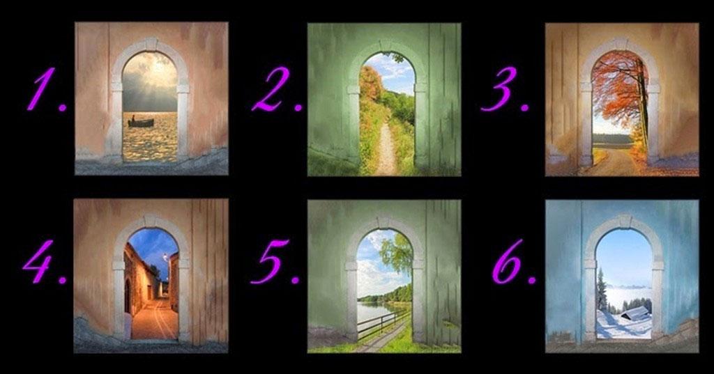 Escoje la puerta que te atrae más. La puerta que elijas revela mucho acerca de tu futuro