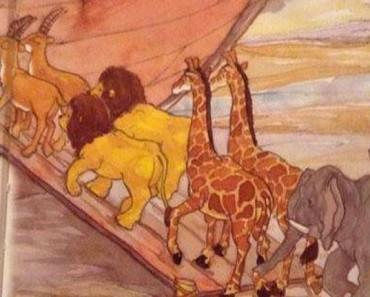 ¿Puedes señalar el ERROR que hay en esta ilustración del Arca de Noé que aparece en una Biblia? 1