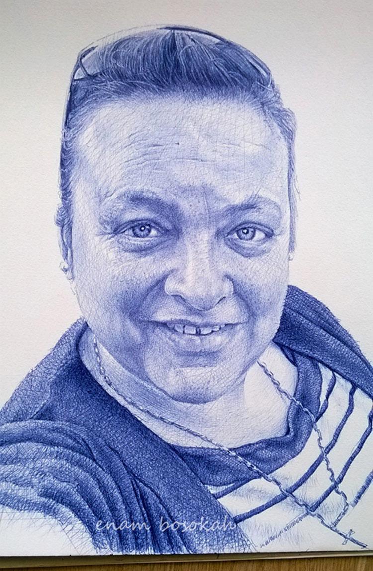 ¿Puede usted creer que TODOS ESTOS increíbles retratos están hechos sólo con un bolígrafo?