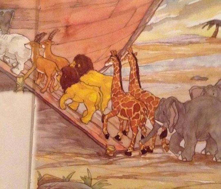 ¿Puedes señalar el ERROR que hay en esta ilustración del Arca de Noé que aparece en una Biblia?