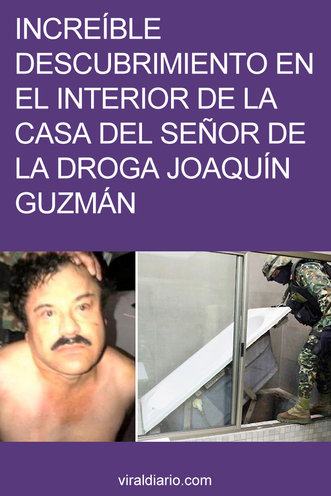 INCREÍBLE descubrimiento en el interior de la casa del señor de la droga Joaquín Guzmán