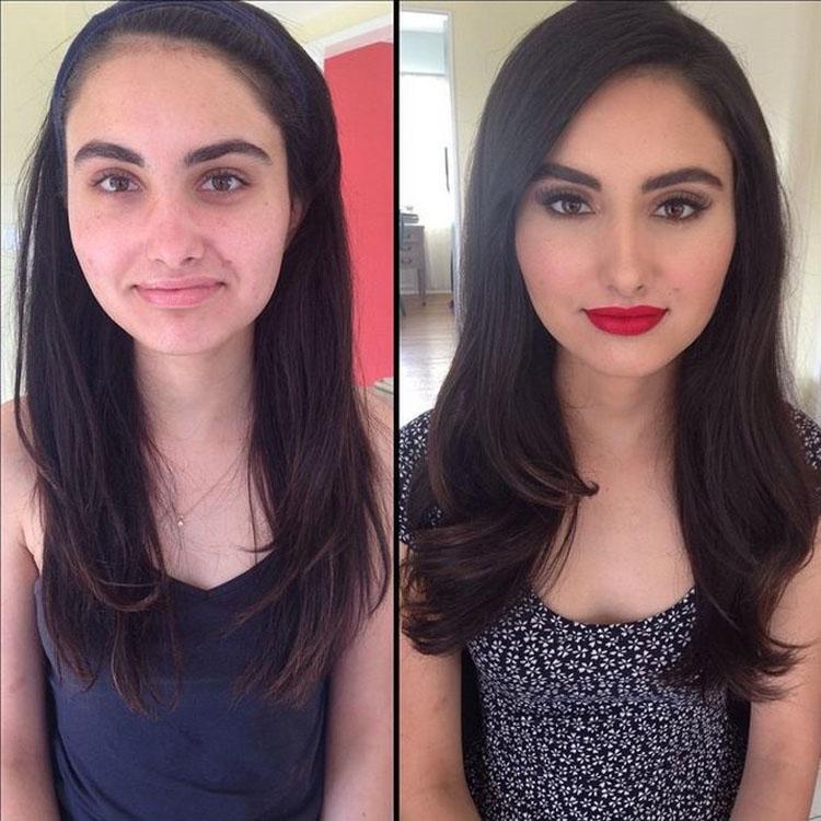 50 Fotos que demuestran que el maquillaje puede TRANSFORMAR completamente a la gente