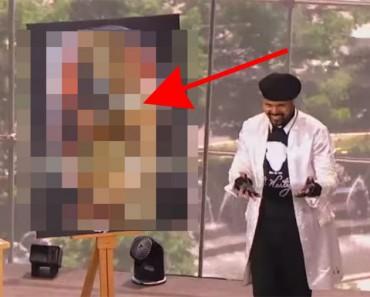 Este pintor dejó a todo el mundo ALUCINADO en una TV en directo. ¿Cómo puede hacer ESO?