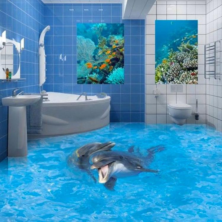 Casi doy un grito cuando vi que su baño estaba INUNDADO, pero después miré más detenidamente...