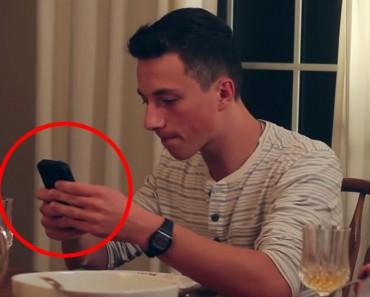Este padre estaba cansado de que sus hijos estuvieran con sus teléfonos en la cena. Hasta que hizo ESTO