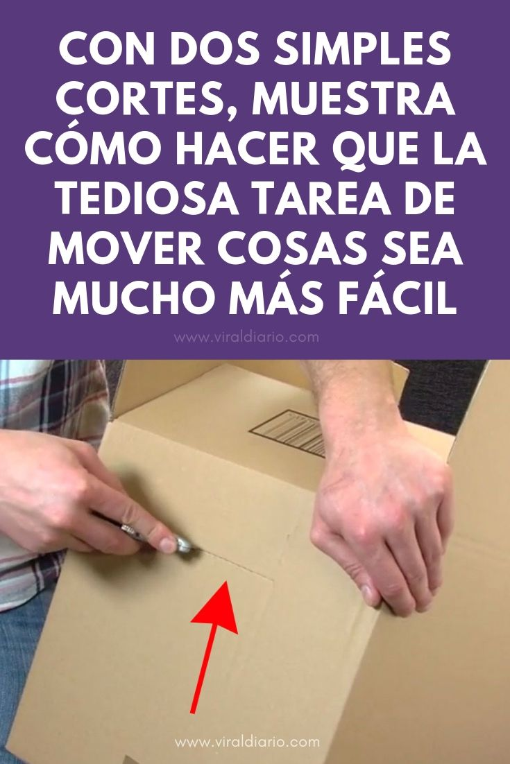 Con dos simples cortes, muestra cómo hacer que la tediosa tarea de mover cosas sea MUCHO MÁS FÁCIL