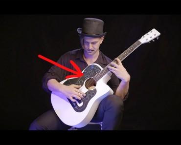 Este dispositivo de aspecto extraño está conectado a una guitarra. ¡El sonido que produce es IMPRESIONANTE!