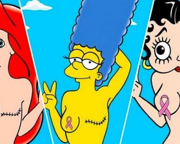 Este artista conciencia sobre el cáncer de mama a través de heroínas de dibujos animados