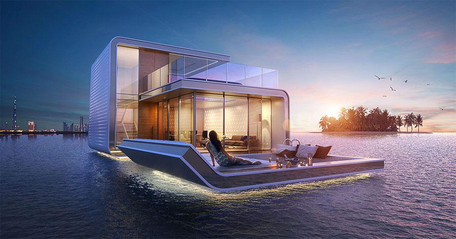 Esta casa flotante se ve de lujo, pero su mejor