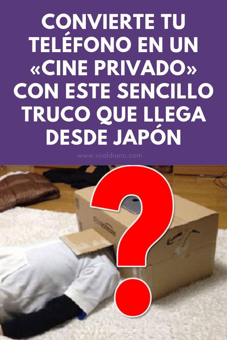 """Convierte tu teléfono en un """"cine privado"""" con este sencillo truco que llega desde Japón"""