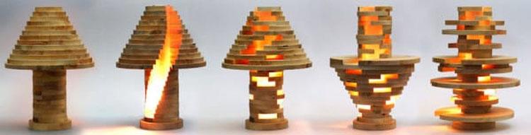 ¡Apila discos de madera y hace una lámpara que JUEGA con tus ojos!