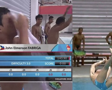 Estos saltadores filipinos obtuvieron CERO PUNTOS con sus saltos, pero se han ganado los corazones de los espectadores