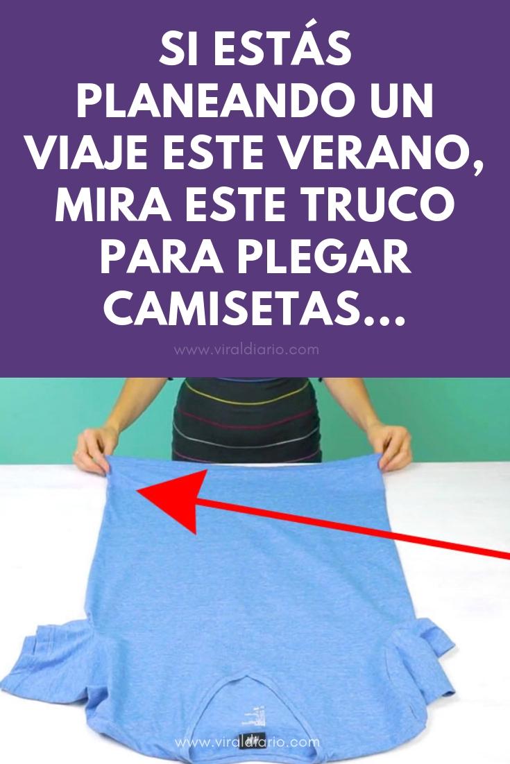 Si estás planeando un viaje este verano, mira este truco para plegar camisetas. Esto se NECESITA SABER