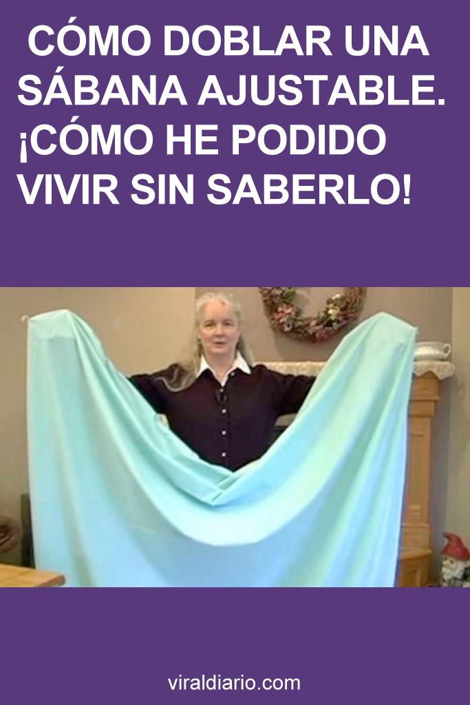 Cómo doblar una sábana ajustable. ¡Cómo he podido vivir SIN SABERLO!
