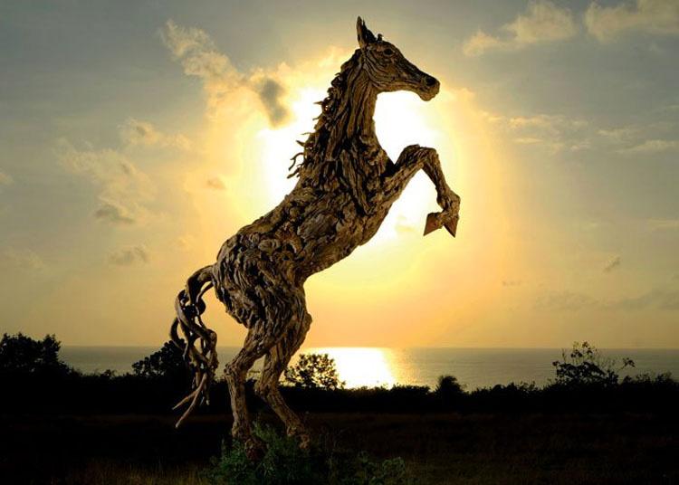 Este artista hace increíbles esculturas de animales a partir de un medio INESPERADO