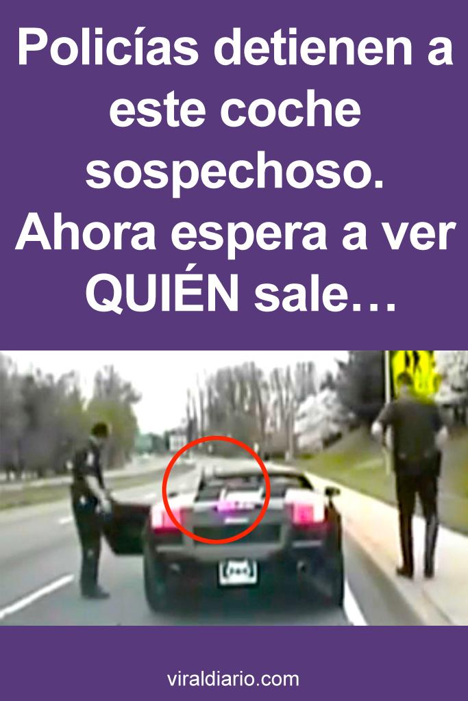 Policías detienen a este coche sospechoso. Ahora espera a ver QUIÉN sale...