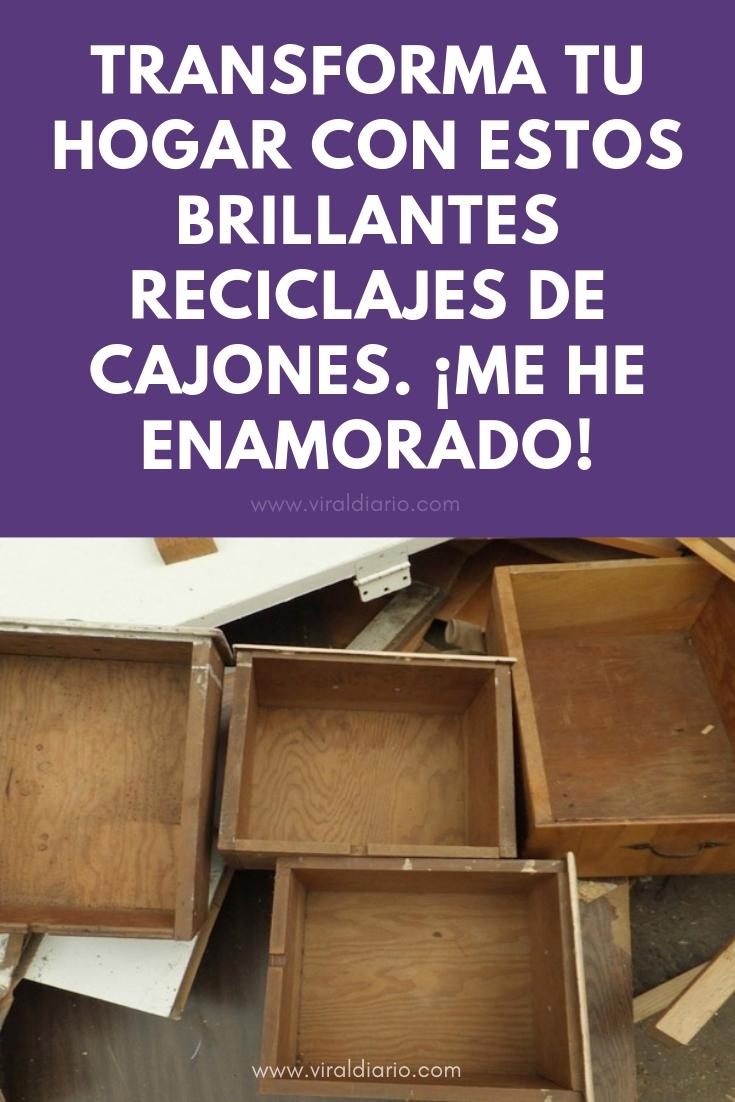 Transforma tu hogar con estos BRILLANTES reciclajes de cajones. ¡Me he ENAMORADO!