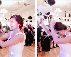 Ella estaba a punto de tirar el ramo cuando la sorpresa más increíble dejó a todos SIN PALABRAS