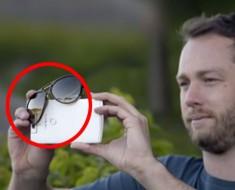 Poner sus gafas de sol en un Smartphone es un truco ÉPICO que probablemente no sabías