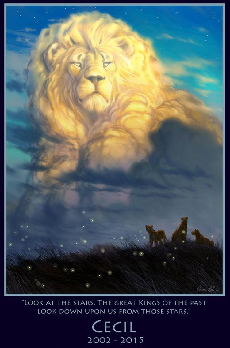 Este artista de Disney ha creado un increíble tributo al león Cecil, y es CONMOVEDOR 1