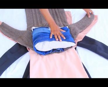 He aquí la forma en que podrá poner TODA la ropa en una maleta pequeña. Todo el mundo debe saber esto