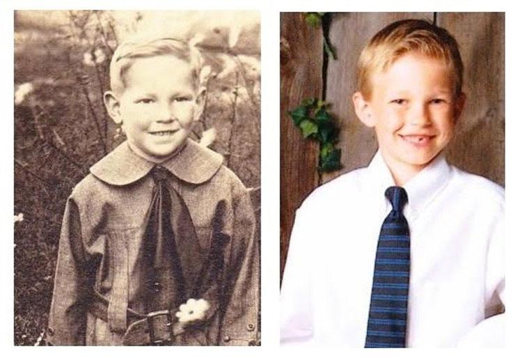 Ciertamente la historia se repite, y estas fascinantes fotos de familia lo prueban 10