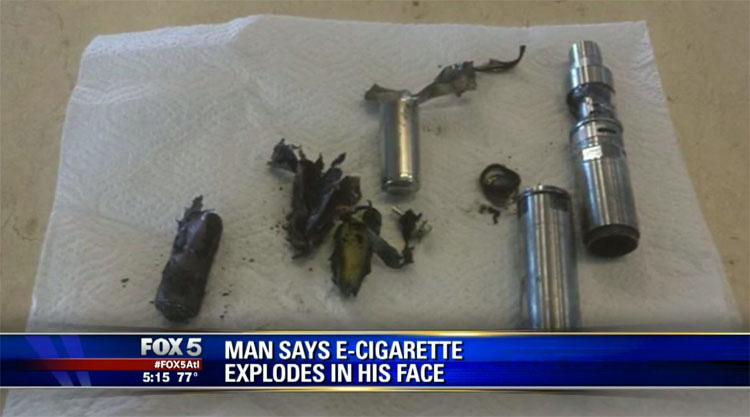 Estaba fumando cuando le explotó en la boca. Ahora su boca está destruida...