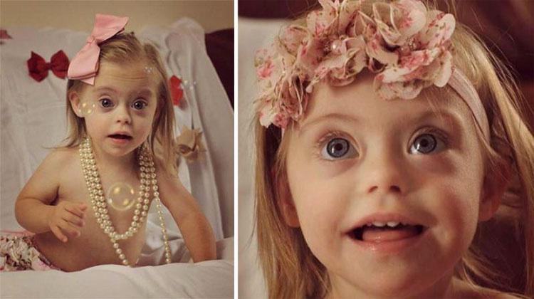 Niña con síndrome de Down gana dos contratos de modelo gracias a su sonrisa. ¡ES PRECIOSA!