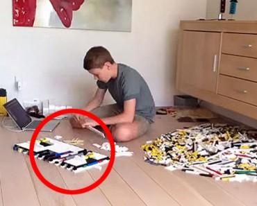 Este niño acaba de crear la cosa más ASOMBROSA usando miles de piezas de LEGO