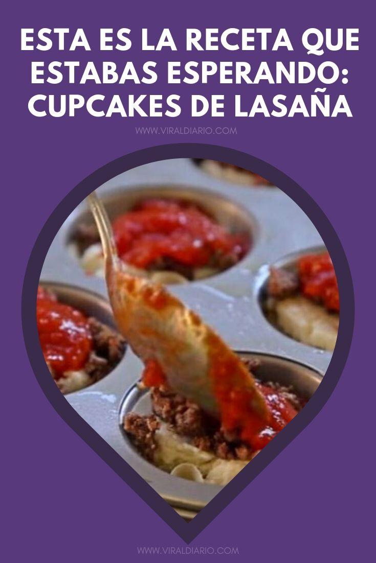 Esta es la receta que estabas esperando: cupcakes de lasaña