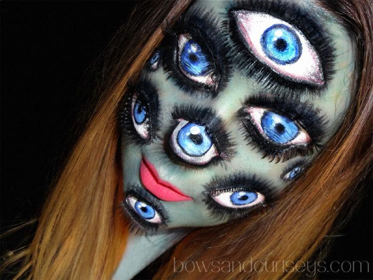 15 ilusiones ópticas con maquillaje para celebrar el Halloween MÁS LOCO
