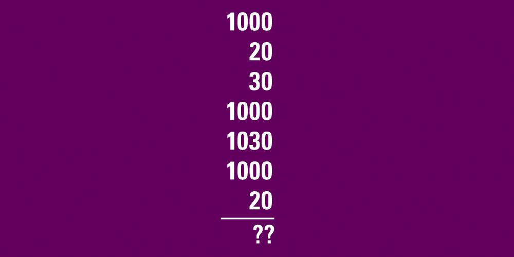 El Test de velocidad de suma. ¿Cuál es la respuesta?